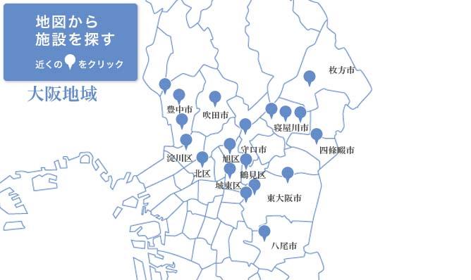 大阪府内の玉泉院の所在地の地図